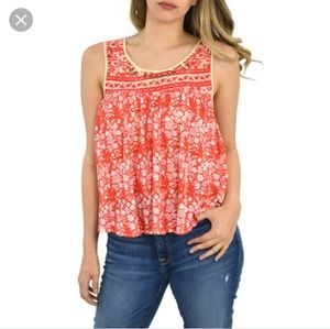 NWT Free People Lucky Coin Linen Blend Tank